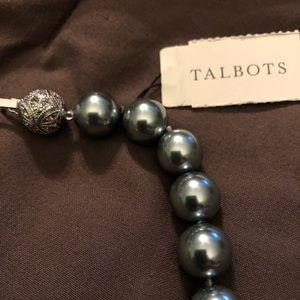 Talbots Jewelry - Talbots Blue Accent Pearls accent closure
